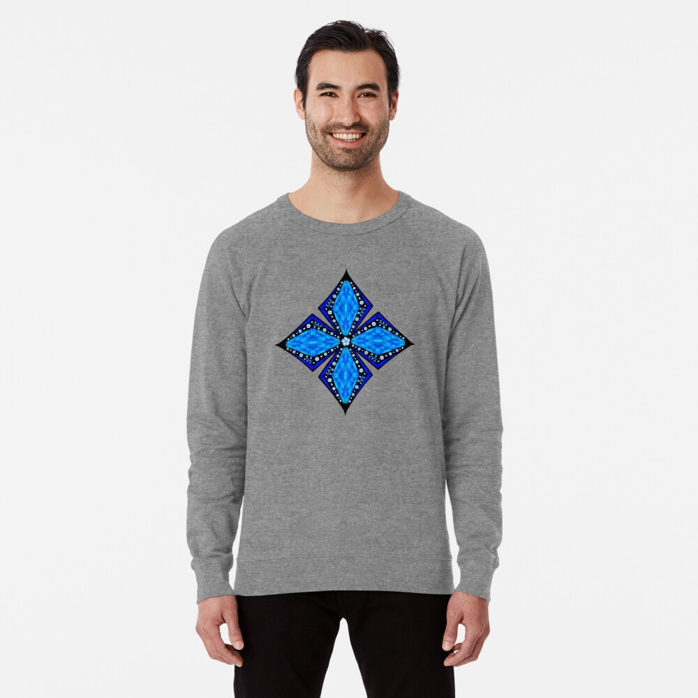 Onyx Beams of Flowers and Gems Lightweight Sweatshirt