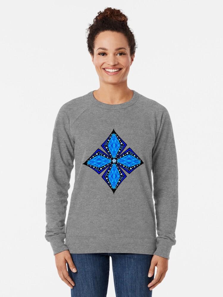 Alternate view of Onyx Beams of Flowers and Gems Lightweight Sweatshirt