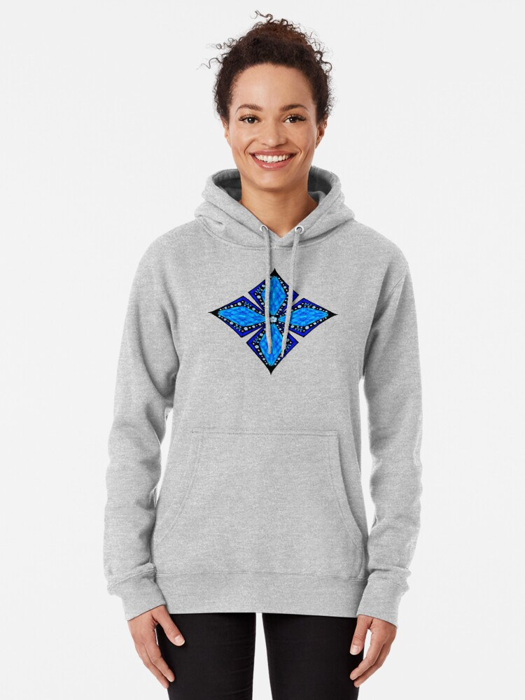 Alternate view of Onyx Beams of Flowers and Gems Pullover Hoodie