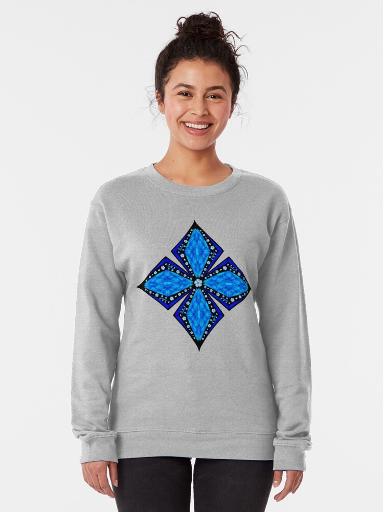 Alternate view of Onyx Beams of Flowers and Gems Pullover Sweatshirt