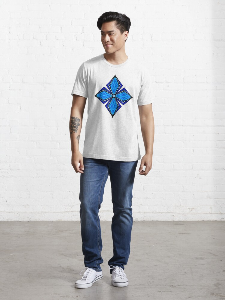 Alternate view of Onyx Beams of Flowers and Gems Essential T-Shirt