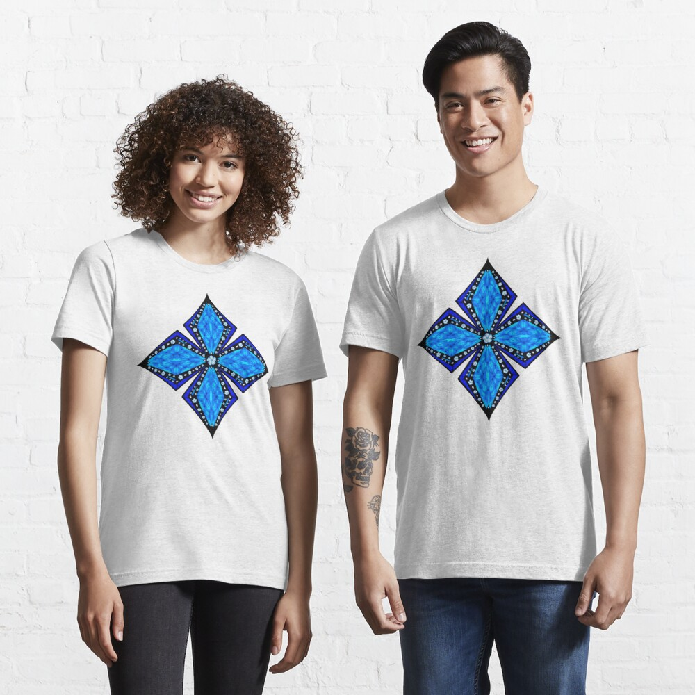 Onyx Beams of Flowers and Gems Essential T-Shirt