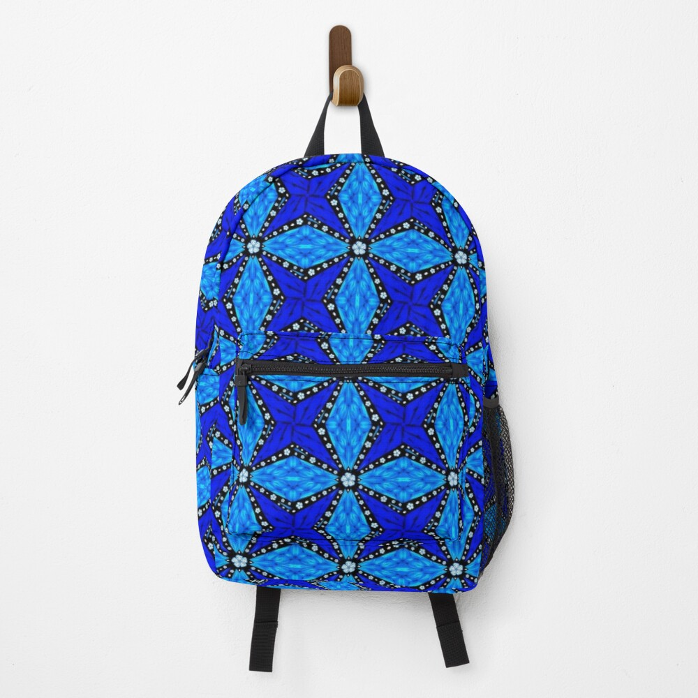 Onyx Beams of Flowers and Gems Backpack