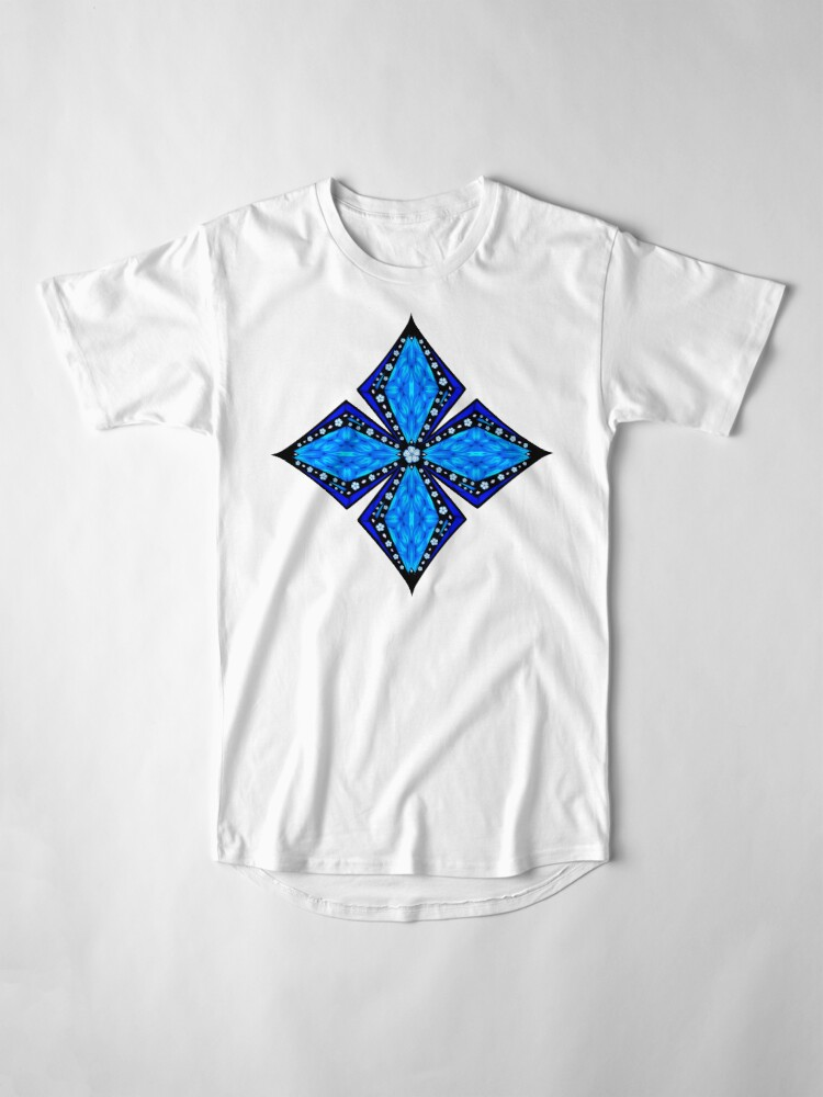 Alternate view of Onyx Beams of Flowers and Gems Long T-Shirt