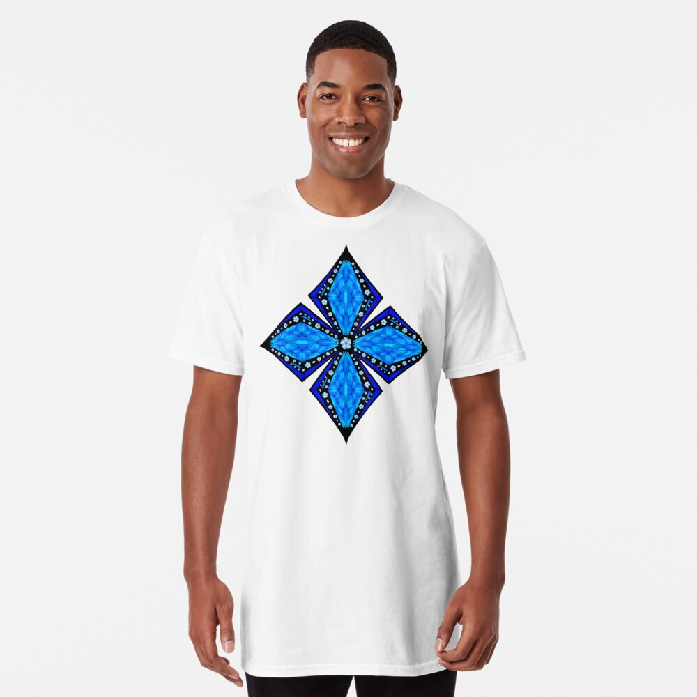 Onyx Beams of Flowers and Gems Long T-Shirt