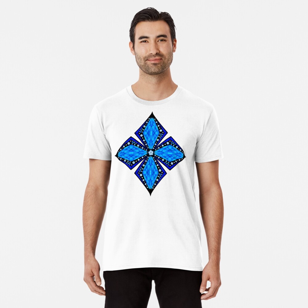 Onyx Beams of Flowers and Gems Premium T-Shirt