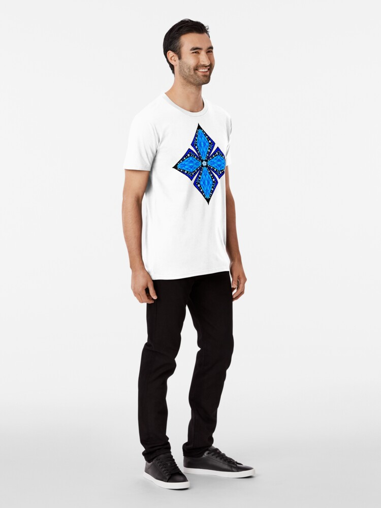Alternate view of Onyx Beams of Flowers and Gems Premium T-Shirt