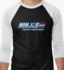 Ninjas. Ninjas EVERYWHERE. Men's Baseball ¾ T-Shirt