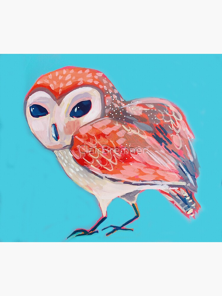 pink owl by ClairBremner