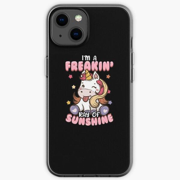 I'm A Freakin' Ray of Sunshine Unicorn Rainbow iPhone Soft Case