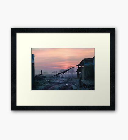 Dawn on the Farm Framed Print