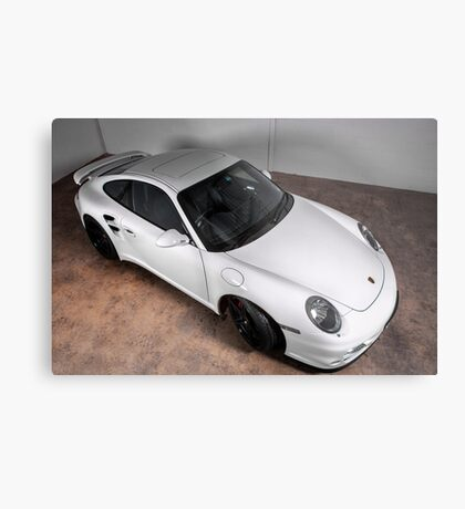 Porsche turbo in white Metal Print