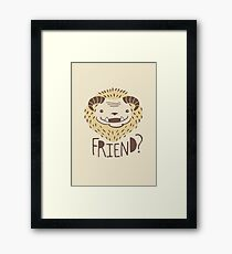 Friendly Beast Framed Print
