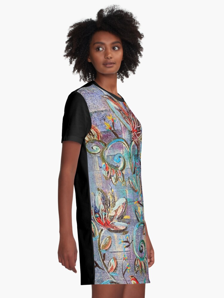 Alternate view of Flowers of the night Graphic T-Shirt Dress