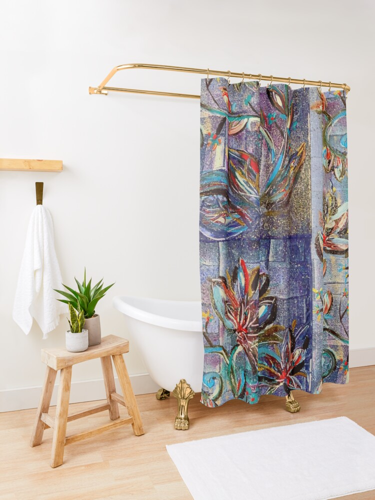 Alternate view of Flowers of the night Shower Curtain