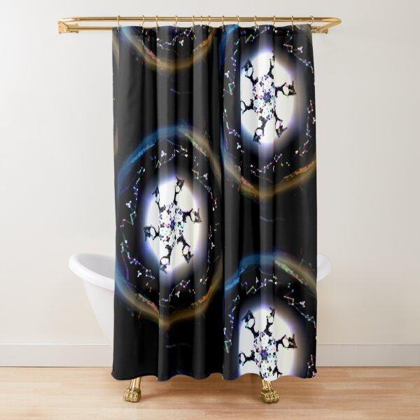 Fractured Atom Shower Curtain