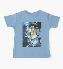 Still Life of Blue Lounge and Flowers Kids Clothes