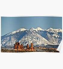 View of The La Sal Mountains Poster