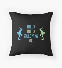 Oddworld Abe's Oddysee Hello (Blue & Green) Throw Pillow