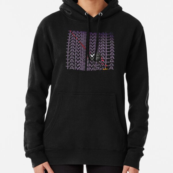 Tame Psychedelic Text Pullover Hoodie