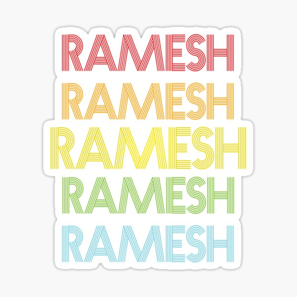 Ramesh Name - Ramesh Rainbow Multi Color Gift For Family Surname Ramesh Name Sticker