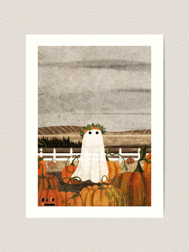 Alternate view of There's a Ghost in the Pumpkins Patch Again... Art Print