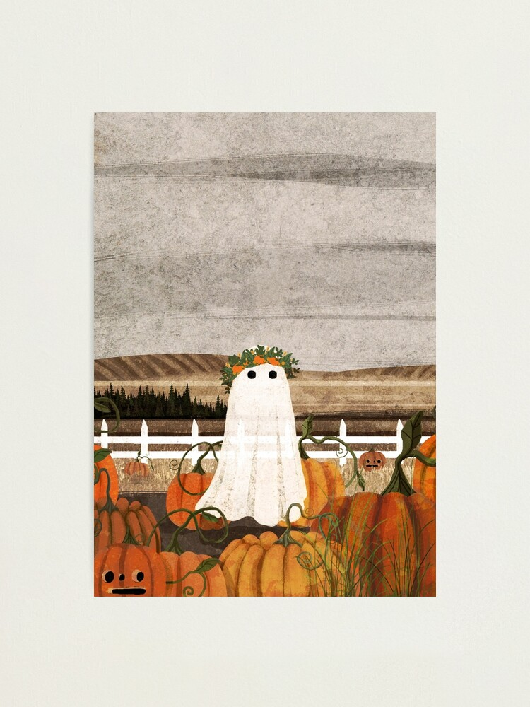 Alternate view of There's a Ghost in the Pumpkins Patch Again... Photographic Print