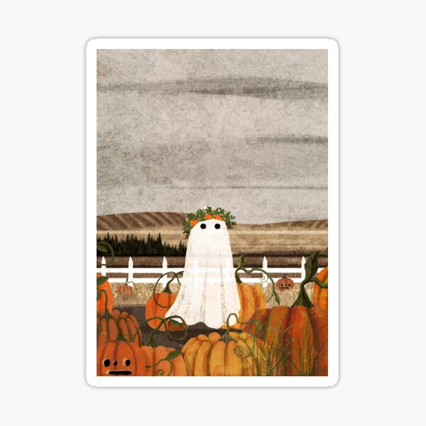 There's a Ghost in the Pumpkins Patch Again... Sticker