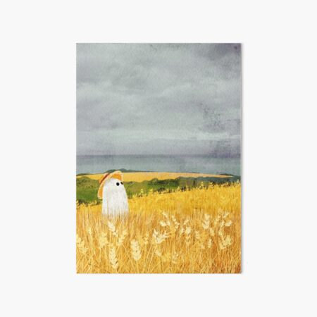 There's A Ghost in the Wheat field again... Art Board Print