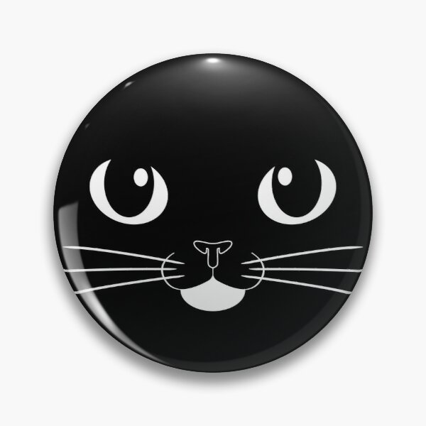 Tuxedo Cat Face with Heart Pin