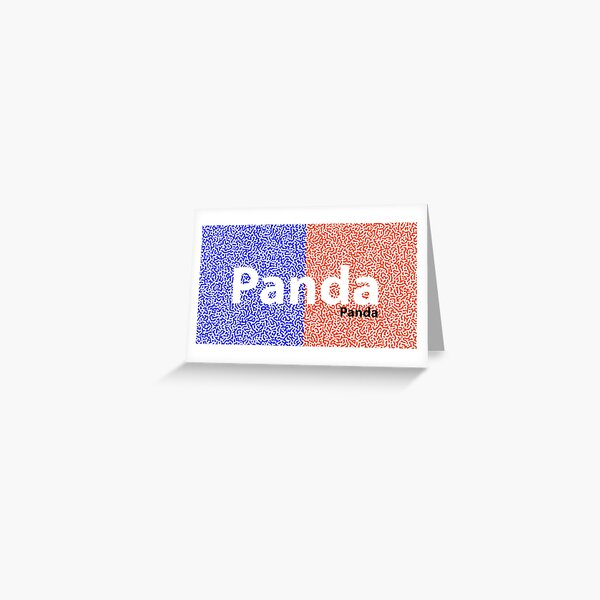Panda Panda Korea edition Greeting Card