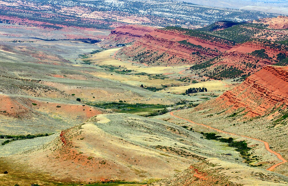 Red Canyon, Wyoming by Harry Oldmeadow