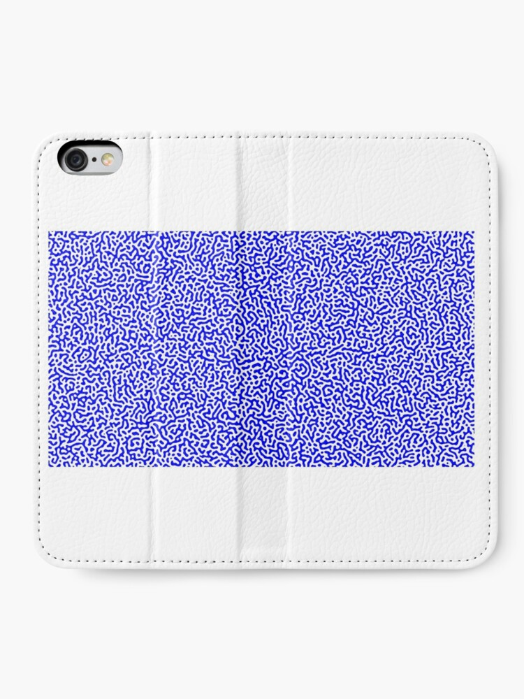 Alternate view of Turing Effect pattern illustration (Blue version) iPhone Wallet