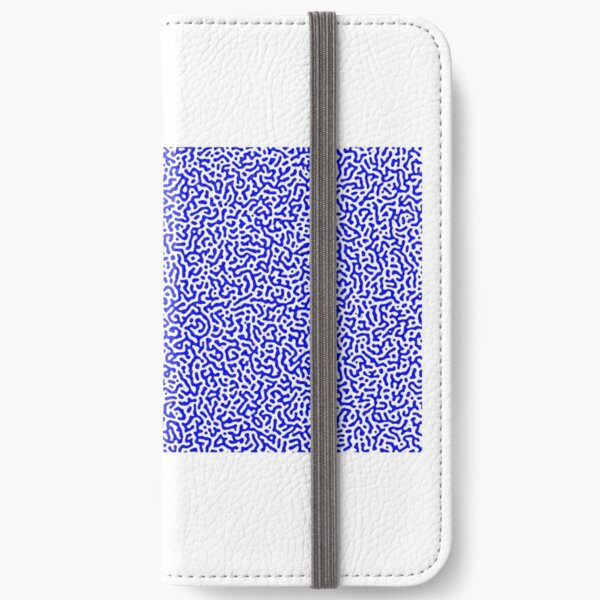 Turing Effect pattern illustration (Blue version) iPhone Wallet