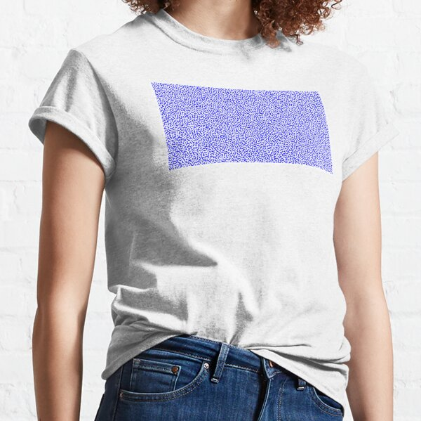Turing Effect pattern illustration (Blue version) Classic T-Shirt