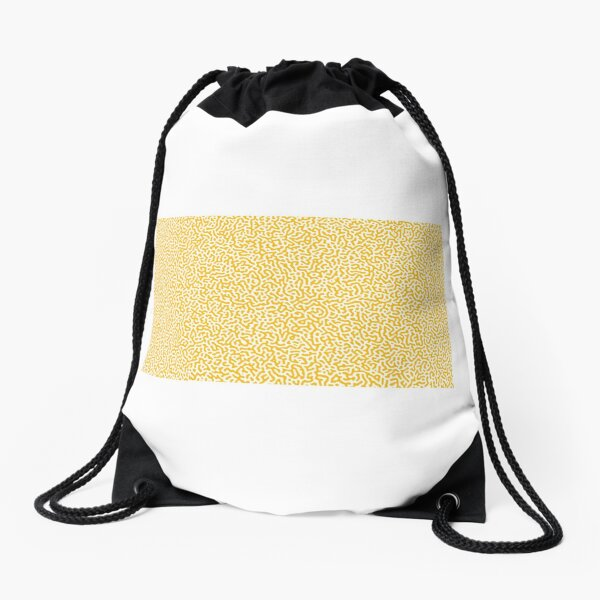 Turing Effect pattern illustration (yellow version) Drawstring Bag