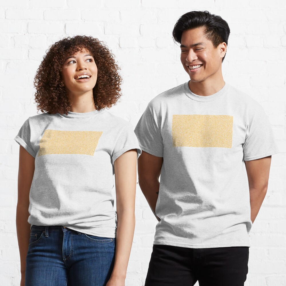Turing Effect pattern illustration (yellow version) Classic T-Shirt