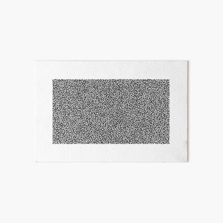 Turing Effect pattern illustration (Black version) Art Board Print