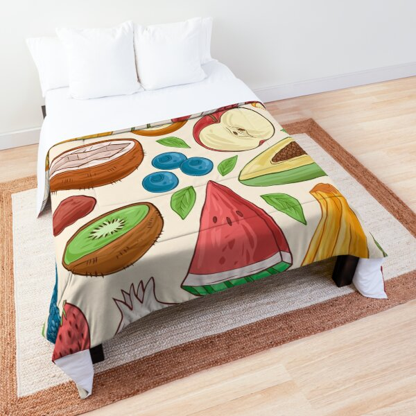 Delicious summer fruits Comforter