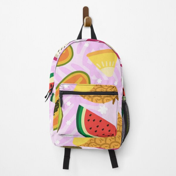 Exotic summer fruit pattern Backpack