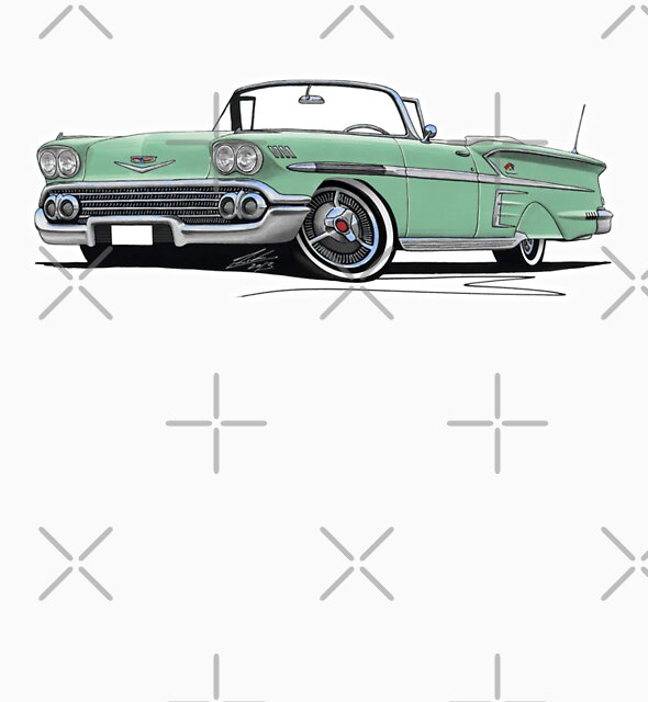 Chevrolet Bel Air Impala Convertible (1958) Light Green by yeomanscarart