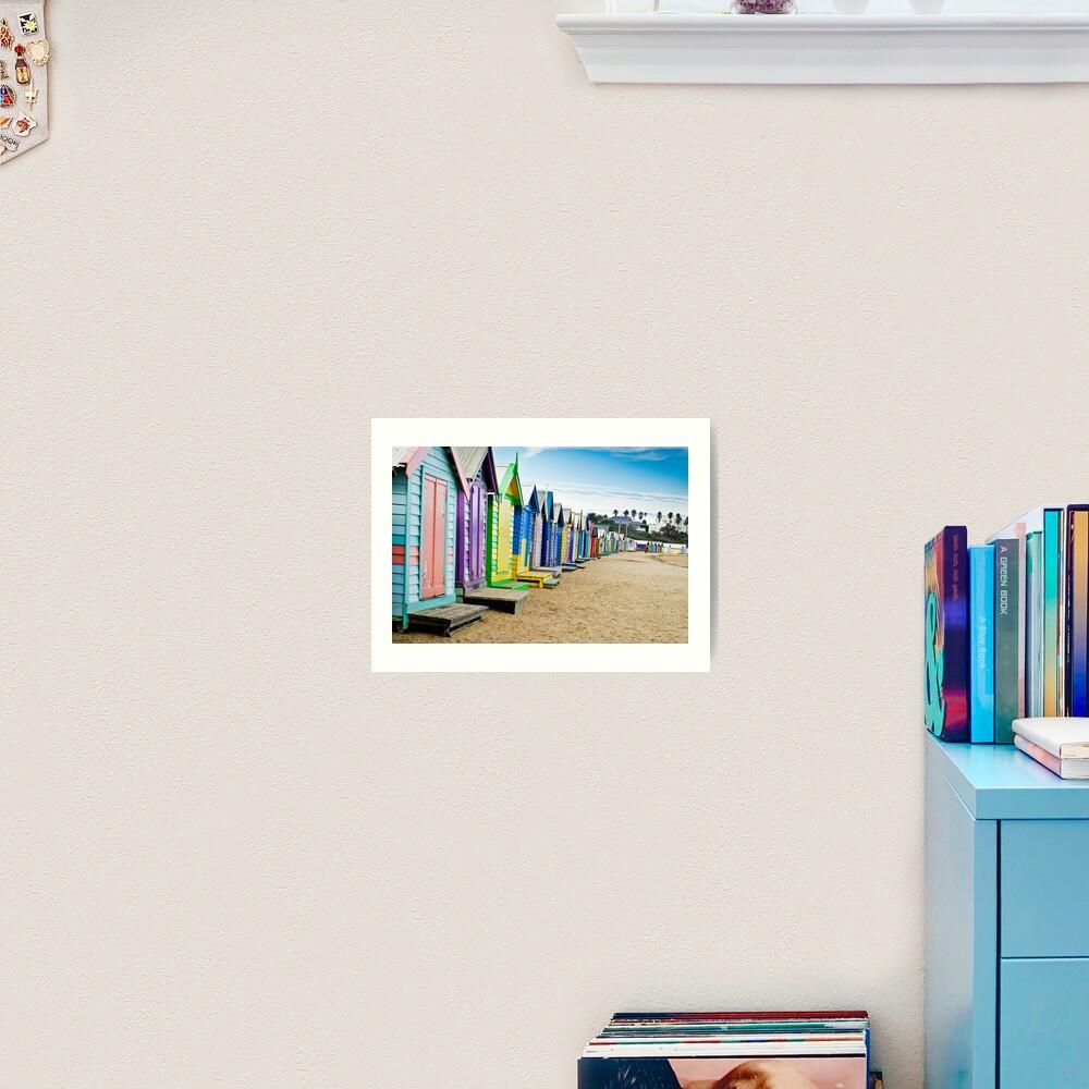 Location, Location, Location - Brighton Beach Boxes - Australia Art Print