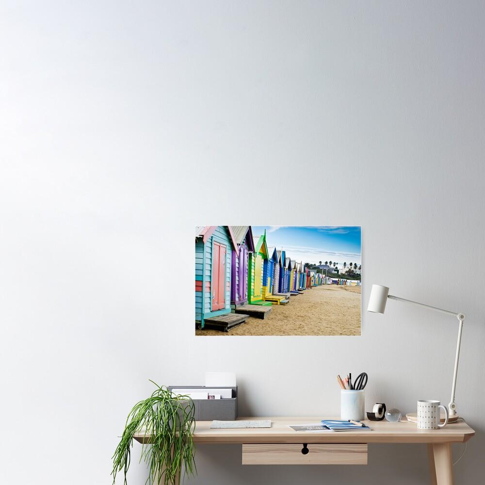 Location, Location, Location - Brighton Beach Boxes - Australia Poster