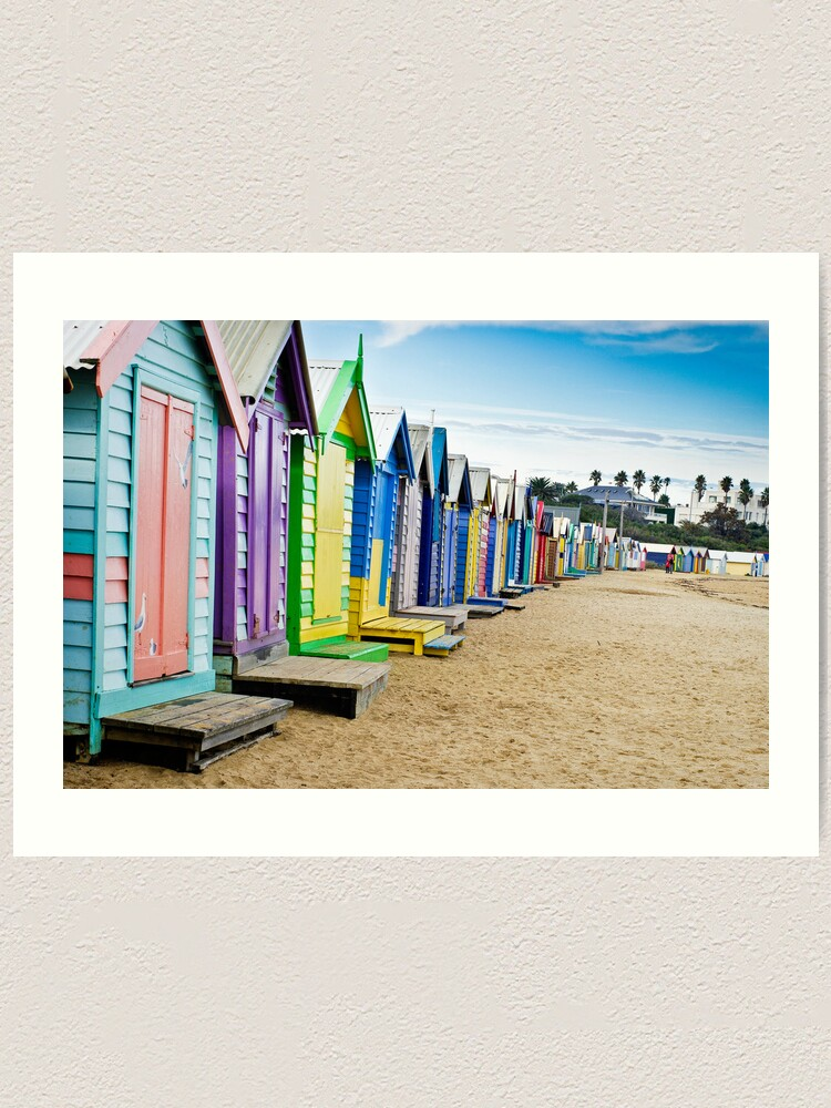Alternate view of Location, Location, Location - Brighton Beach Boxes - Australia Art Print