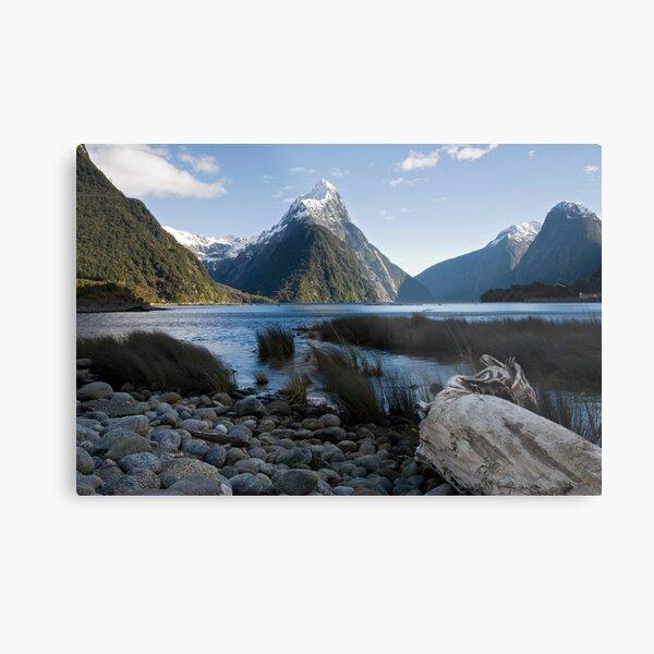Mitre Peak, Milford Sound. Metal Print