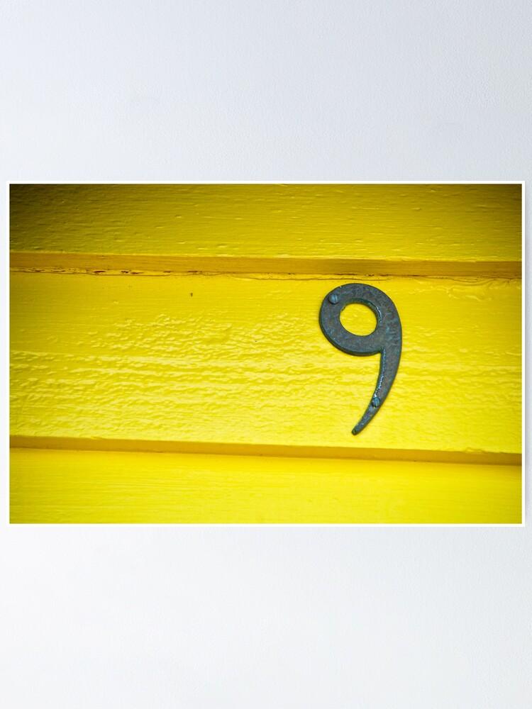 Alternate view of Yellow Nine - Brighton Beach Boxes - Australia Poster