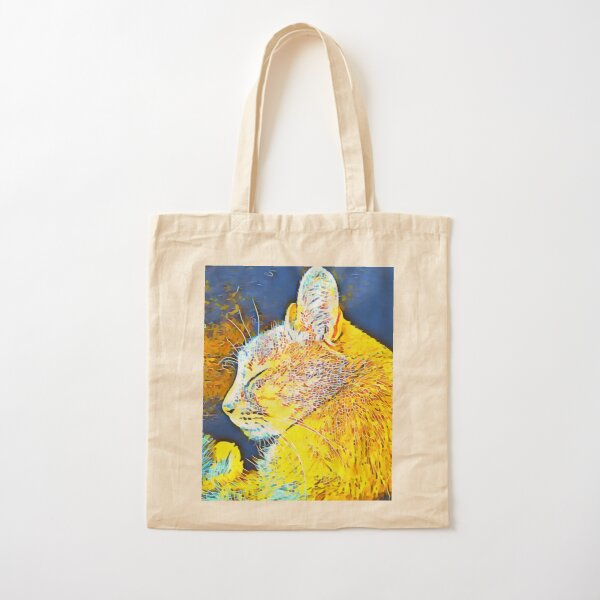 Cat Fancy Cotton Tote Bag