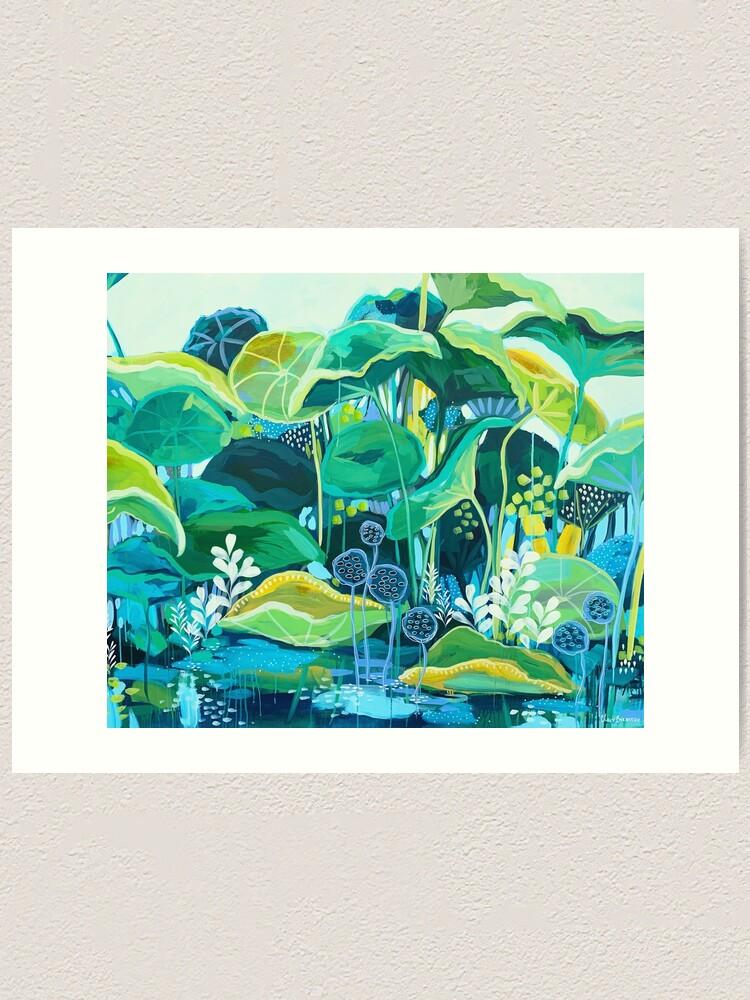Alternate view of The Lotus Pond Art Print