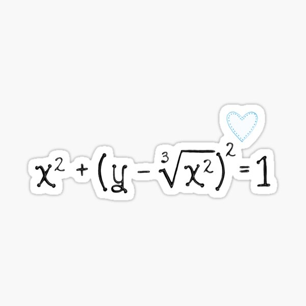 Math heart (blue) Sticker