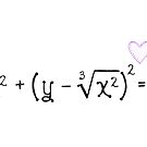 Math heart (white) by funmaths